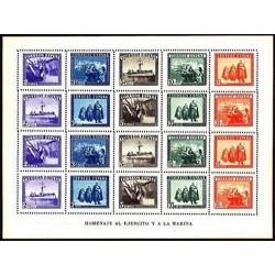 1938 Sellos de España (849). En Honor del Ejército y La Marina.**