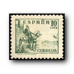 1937 Sellos de España (817). Cifras, Cid e Isabel.**