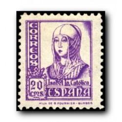 1937 Sellos de España (821). Cifras, Cid e Isabel.**
