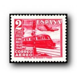 1948 Sellos de España (1037Centenario del Ferrocarril.