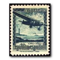 1939 Sellos de España (NE 38). Avión en vuelo.**