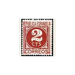 1936-38 España. Cifra y Personajes. Edif.731 *fijasellos