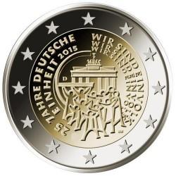 Moneda 2 euros conmemorativa. Alemania 2015 Reunificación
