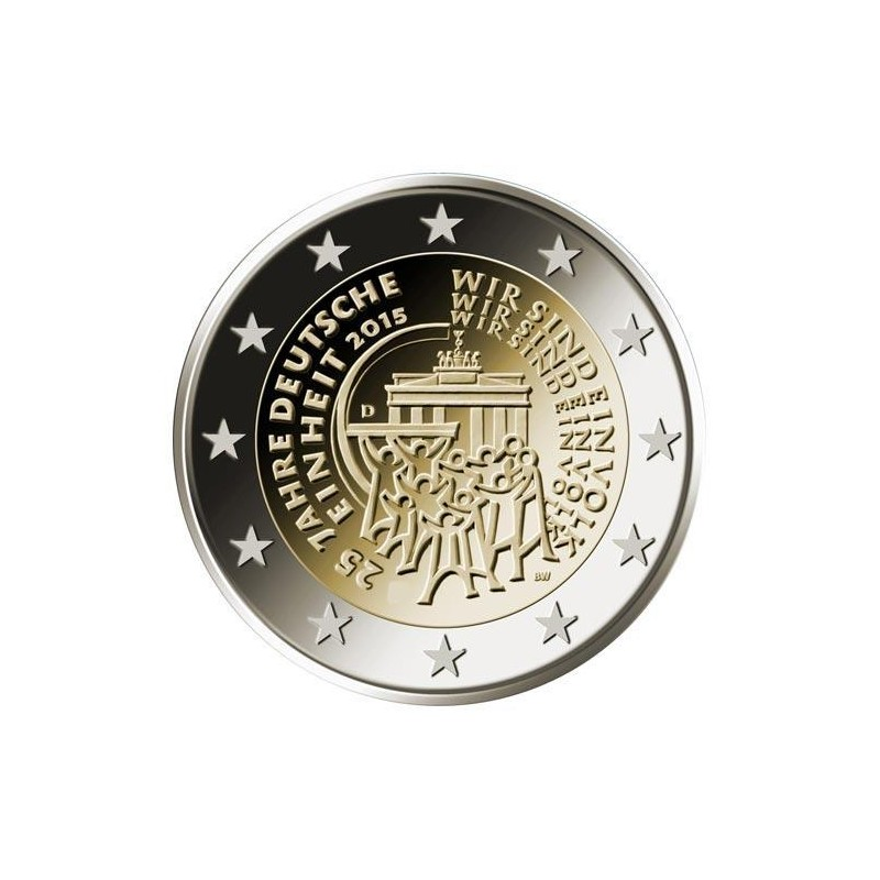 Moneda 2 euros conmemorativa. Alemania 2015 Hesse (5 cecas)