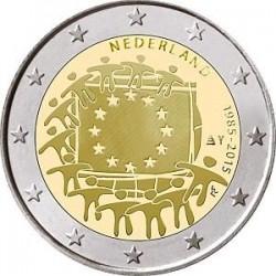Moneda 2 euros conmemorativa 30º Aniv. Bandera. Holanda