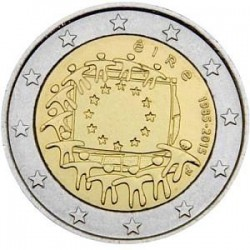 Moneda 2 euros conmemorativa 30º Aniv. Bandera Holanda