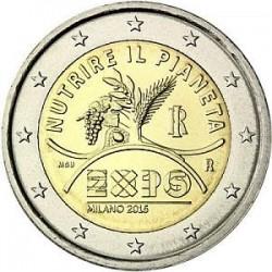 Moneda 2 euros conmemorativa. Italia 2014 Galileo Galilei