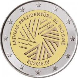 Moneda 2 euros conmemorativa. Letonia 2014