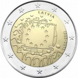 Moneda 2 euros conmemorativa 30º Aniv. Bandera Irlanda