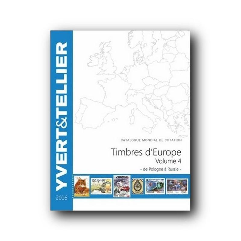 Catálogo de Sellos Yvert et Tellier Europa vol. IV 2016 Polonia-Rusia