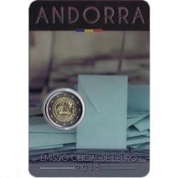 Moneda 2 euros Andorra 2015 Acuerdo Aduanero