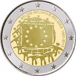 Moneda 2 euros conmemorativa 30º Aniv. Bandera Austria