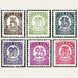 1938 España. Cifras. Edif.745/50 **