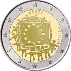 Moneda 2 euros conmemorativa 30º Aniv. Bandera. Estonia