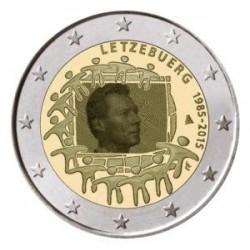 Moneda 2 euros conmemorativa Luxemburgo 2015 Aniv. Bandera UE
