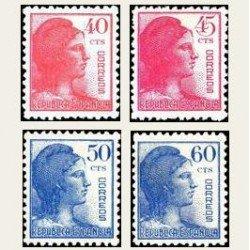 1938 España. Alegoría de la República. Edif.751/54 **