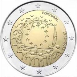 Moneda 2 euros conmemorativa 30º Aniv. Bandera. Malta