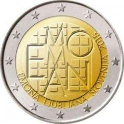 Moneda 2 euros conmemorativa Eslovenia 2015 Emona