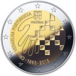 Moneda 2 euros conmemorativa Portugal 2015 Cruz Roja