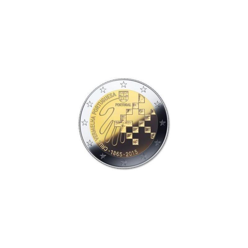 Moneda 2 euros conmemorativa. Portugal 2015 Cruz Roja