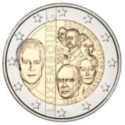 Moneda 2 euros conmemorativa. Luxemburgo 2015 Dinastía Nassau-Weilburg