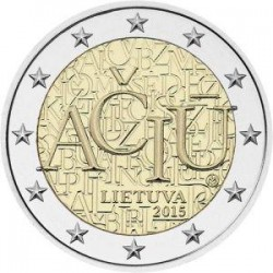 Moneda 2 euros conmemorativa. Lituania 2015 Idioma Lituano