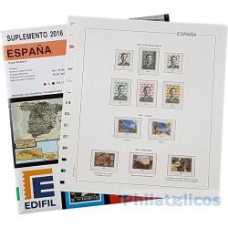 Suplemento Edifil España 2016 sólo Sellos y Hojas Bloque