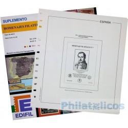 Suplemento Hojas Edifil España Homenaje Filatélico 2016