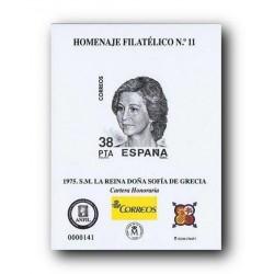 2016 Hoja Homenaje Filatélico a S.M. la Reina Doña Sofía (nº 11)