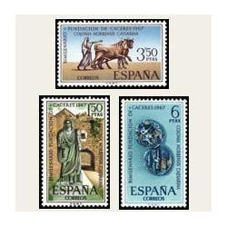1967 España. Bimilenario de Cáceres. Edif.1827/29 **