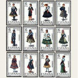 1968 España. Trajes Típicos Españoles. Edif.1839/50. **