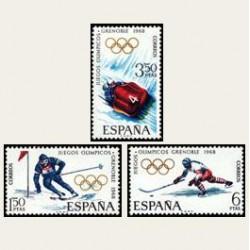 1968 España. JJ.OO. Invierno Grenoble. Edif.1851/53. **