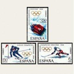 1968 España. JJ.OO. Invierno Grenoble. 1851/53. **