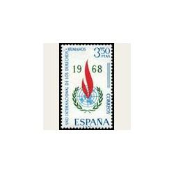 1968 España. Año Internacional de los Derechos Humanos. Edif.187