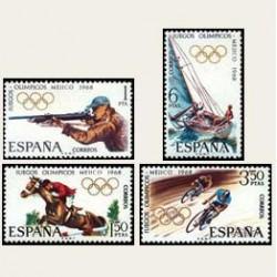 1968 España. Juegos Olímpicos de México. 1885/88 **