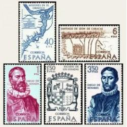 1968 España. Forjadores de América. Edif.1889/93 **