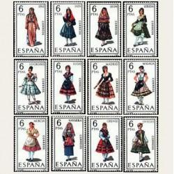 1969 España. Trajes Regionales Españoles. Edif.1898/1909 **