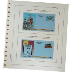 Juego Hojas Aerogramas 1981/2002 con filoestuches