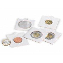 Cartones para monedas Leuchtturm 22,5 mm. Ø autoadhesivos (100 unds.)