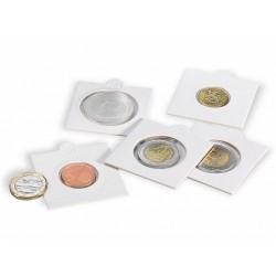 Cartones para monedas Leuchtturm 27,5 mm. Ø autoadhesivos (100 unds.)