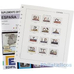 Suplemento Edifil España 2017 sólo Sellos y Hojas Bloque