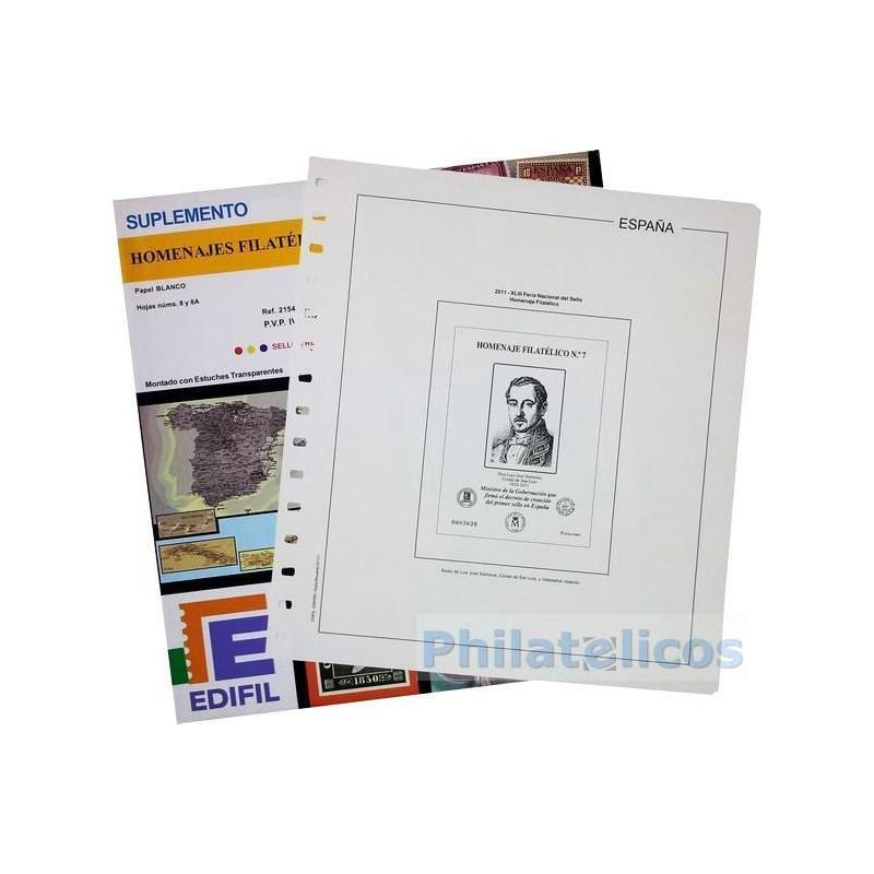 Suplemento Anual Edifil España Homenaje Filatélico 2013 (Oso y Madroño)