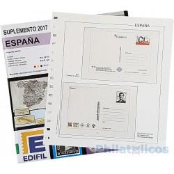 Suplemento Edifil Sobres Entero Postales 2017 con filoestuches