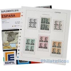 Suplemento Anual Edifil España 2016 Bloque de Cuatro
