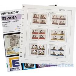 Suplemento Anual Edifil España 2017 Bloque de Cuatro