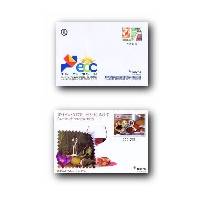 2014 España. Sobres Entero Postales Filatelia.