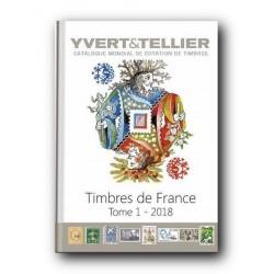 Catalogo de Sellos Yvert et Tellier Francia 2018