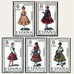 1971 España. Trajes Regionales Españoles. Edif.2014/18 **