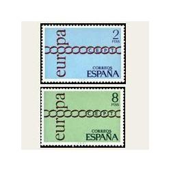 1971 España. Europa CEPT. Edif.2031/32 **