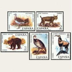 1971 España. Fauna Hispánica. Edif.2036/40 **